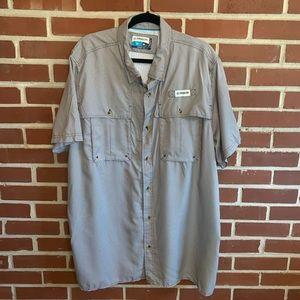 Magellan Houndstooth Button Up Fishing Shirt